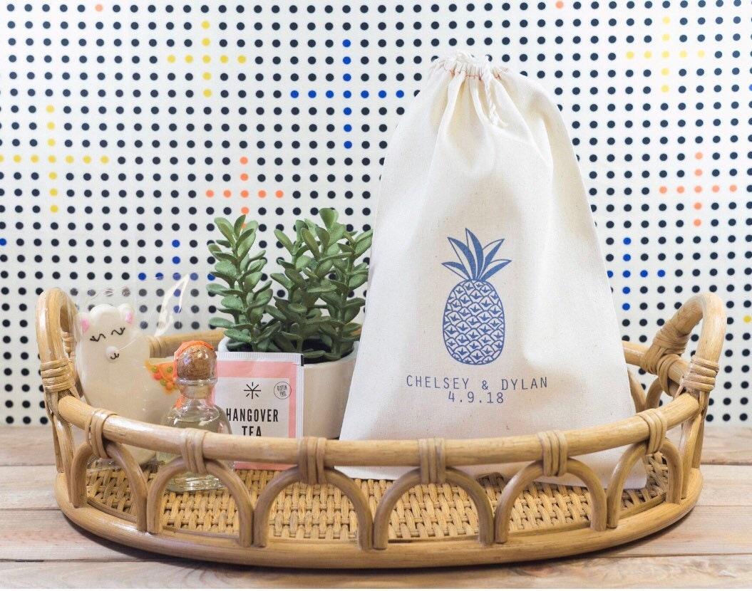 Pineapple Wedding Welcome Bag Tropical Wedding Favors