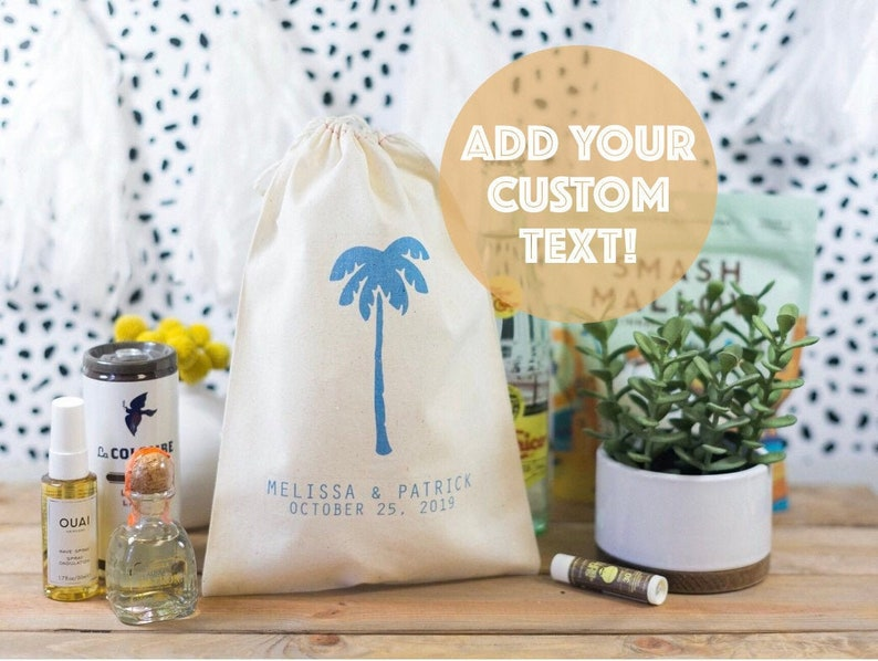 Destination Wedding Welcome Bags  Palm Tree Welcome bags  image 0
