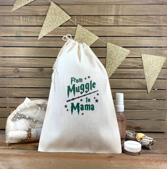 Terrific From Muggle To Mama Favor Bag Harry Potter Baby Shower Favor Bags Custom Glitter Baby Shower Party Favor Harry Potter Hangover Kit Bag Bralicious Painted Fabric Chair Ideas Braliciousco