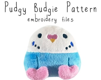 ITH In the hoop embroidery machine pattern parakeet budgie bird plushie stuffie pes dst huf jef all formats Instant Download design pattern