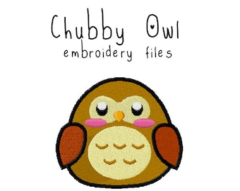 Owl EMBROIDERY MACHINE FILES pattern design hus jef pes dst all formats bird forest woodland animal Instant Download digital applique cute