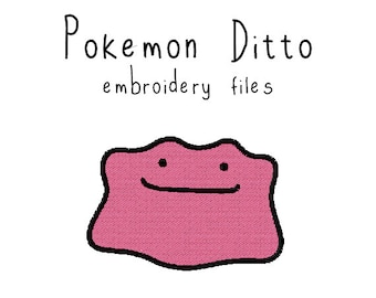 Pokemon Ditto EMBROIDERY MACHINE FILES pattern design hus jef pes dst all formats Instant Download digital applique kawaii cute