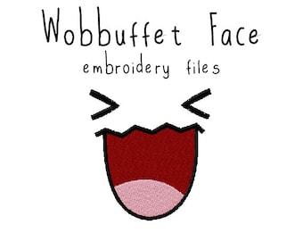 Pokemon Wobbuffet face EMBROIDERY MACHINE FILES pattern design hus jef pes dst all formats Instant Download digital applique kawaii cute