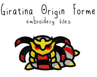 Pokemon Giratina EMBROIDERY MACHINE FILES pattern design hus jef pes dst all formats Instant Download digital applique kawaii cute