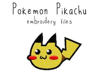 Pokemon Pikachu EMBROIDERY MACHINE FILES pattern design hus jef pes dst all formats Instant Download digital applique kawaii cute