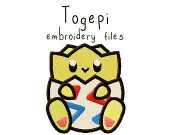Pokemon Togepi EMBROIDERY MACHINE FILES pattern design hus jef pes dst all formats Instant Download digital applique kawaii cute