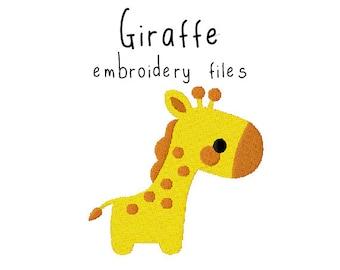 Giraffe EMBROIDERY MACHINE FILES pattern design hus jef pes dst all formats zoo animal safari jungle Instant Download digital applique cute