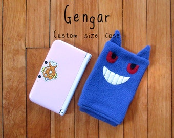 JULY PREORDER 3ds XL Case / Custom Size Pokemon Gengar pouch carrying case new 3ds / 3ds xl / nintendo switch / psp vita holder cozy
