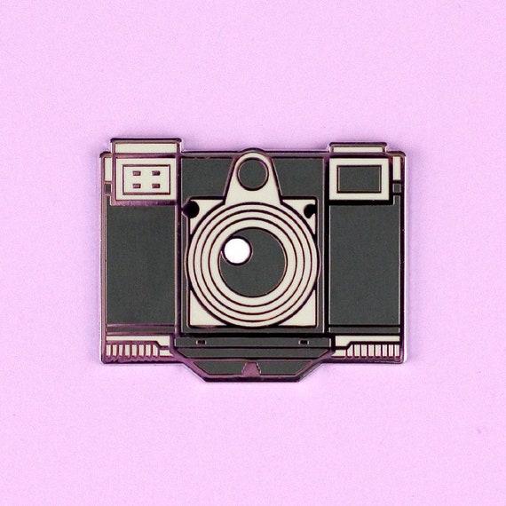 Camera Enamel Pin Zeiss Contessa 35 hard enamel silver plating cute kawaii  vintage black white lapel analog film brooch badge flair collar