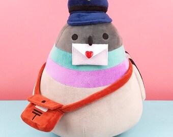 Big Poe Egglesworth Plushie stuffed toy animal pigeon bird dove post office kawaii cute mail stuffed animal pigeons