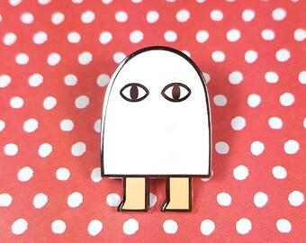 Medjed the smiter pin hard enamel silver 3cm - egypt egyptian god lapel pin brooch badge flair collar pin hat pin