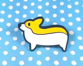 Corgi enamel pin 3cm - dog cute lapel pin brooch badge flair collar pin hat pin nature animal puppy