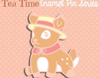 PREORDER JULY Deer enamel pin pastel glitter 3.5cm kawaii lolita cute fancy lapel pin brooch badge flair collar pin hat pin nature animal