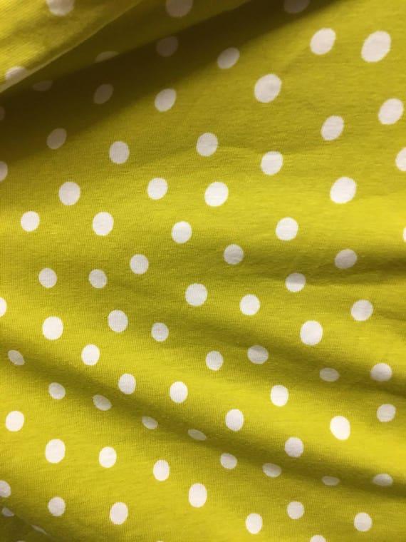 Lime Dot Knit (One Yard Cut)