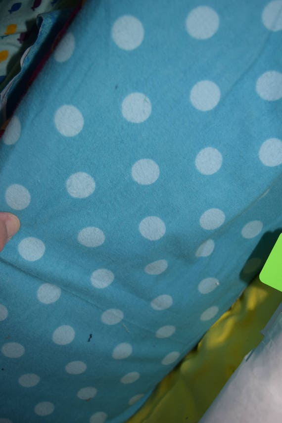 Snuggle Flannel with Blue Tonal dots (One Yard Cut)