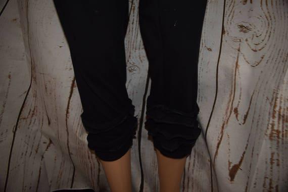 Ruffled Leggings (Handmade Custom) with Elastic Waist