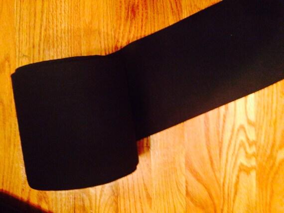 Cotton Lycra Cuffing Rib Knit Fabric (1/2 Yard) - Black, Cream, Navy