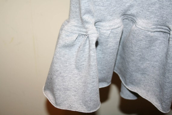 Women's Cropped Ruffle Pants with  Yoga Waist - One Ruffle (Custom Made) in Solid Colors