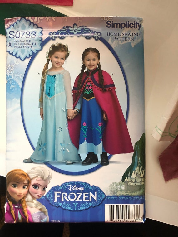 Simplicity S0733 Princess Costume Sewing Pattern Size 3 to 8