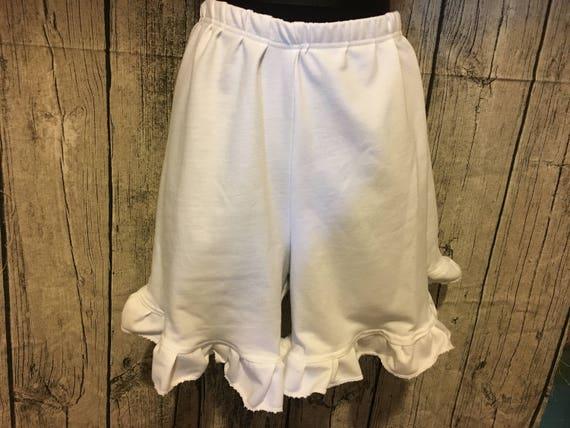 Womens Ruffle Shorts - Elastic Waist (Custom Handmade)