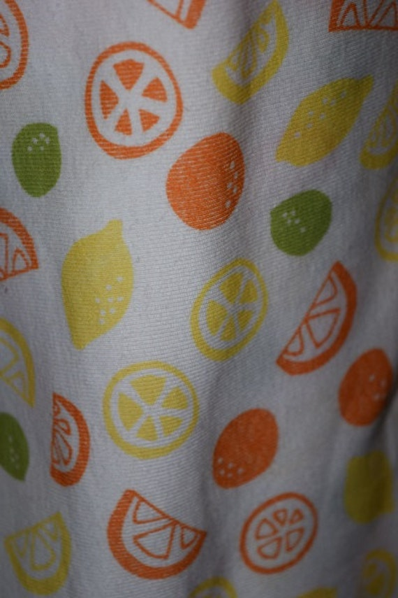 Citrus Fruit Print Rib Knit (by the Yard)