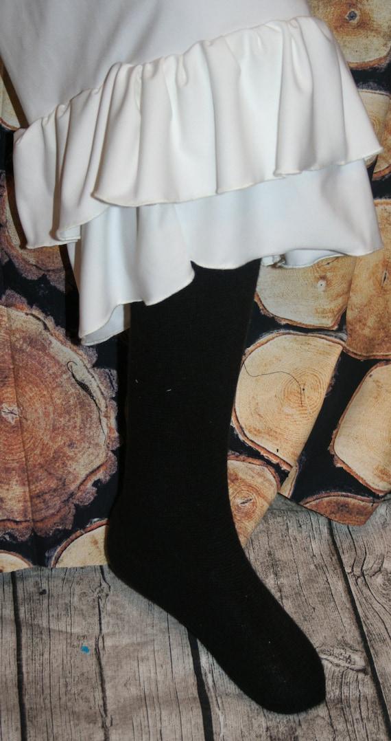 Women's Ruffle Pants Capri One Ruffle Pants- elastic Waist  (Custom Made - XXS - XXL)