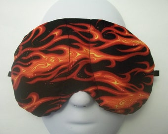 Herbal Hot/Cold Therapy Sleep Mask with adjustable and removeable strap Flames