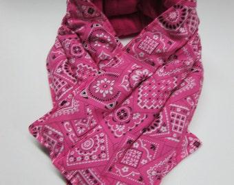 LONG Hot/Cold Therapy Neck Wrap Pink Bandana
