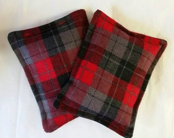 Toasty Flannel Hand Pocket Warmers  Red and Black Plaid