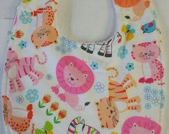 Baby Bib Bright Animals