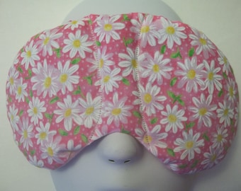 Herbal Hot/Cold Therapy Sleep Mask with adjustable and removable strap Daisies