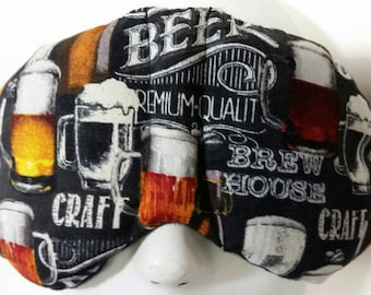 Herbal Hot/Cold Therapy Sleep Mask with adjustable and removable strap Crafted Beer