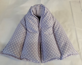 Hot/ Cold Herbal Therapy Neck, Knee and Ankle Wrap Purple Polka Dots