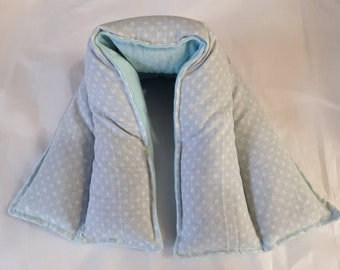 Hot/ Cold Herbal Therapy Neck, Knee and Ankle Wrap Blue Polka Dots