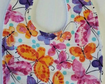 Baby Bib Colorful Butterflies