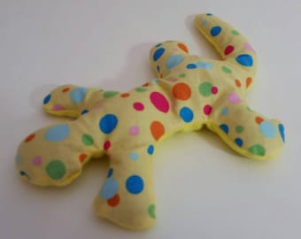 Pain Reliever Hot/ Cold Herbal Therapy Lizard with Yellow with Multi Polka Dots Print