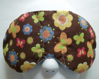 Herbal Hot/Cold Therapy Sleep Mask with adjustable and removeable strap Flowers and Butterflies