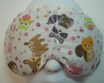 Herbal Hot/Cold Therapy Sleep Mask with adjustable and removeable strap Little Wildlife Creatures