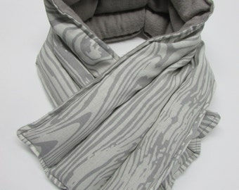 LONG Hot/Cold Therapy Neck Wrap Gray Wood Grain