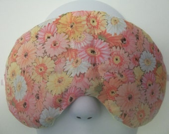 Herbal Hot/Cold Therapy Sleep Mask Colorful Dasies with adjustable and removeable strap