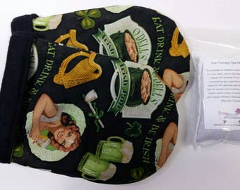 Hot Therapy Spa Mitten Set Eat, Drink & Be Irish