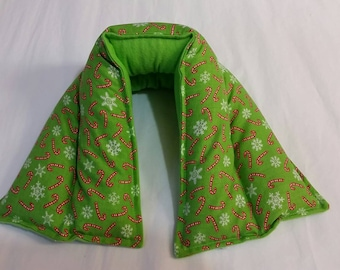 Hot/ Cold Herbal Therapy Neck, Knee and Ankle Wrap Candy Canes & Snowflakes