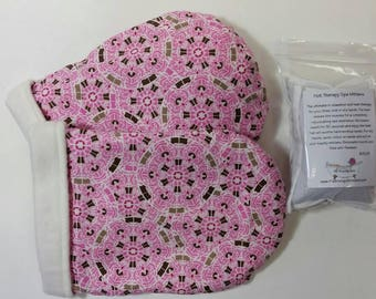 Hot Therapy Spa Mitten Set Pink Geo