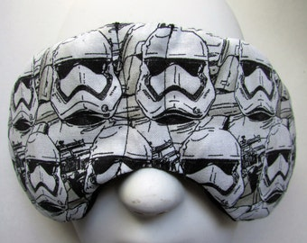 Herbal Hot/Cold Therapy Child Size Sleep Mask with adjustable and removable strap Star Wars Storm Troopers