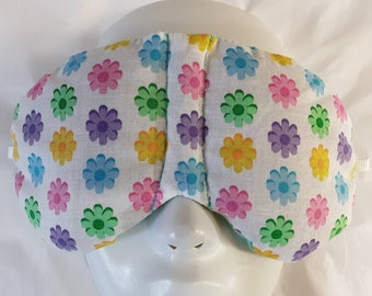 Herbal Hot/Cold Therapy Sleep Mask with adjustable and removable strap Multicolor Dasies