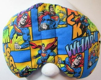 Herbal Hot/Cold Therapy Sleep Mask with adjustable and removable strap Superman