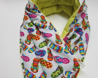 LONG Hot/Cold Therapy Neck Wrap Flip Flops