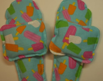 Unscented Flannel Foot Warmers Flax Seed Sock/Slippers inserts and Toasty Hand Warmers Set Popsicles