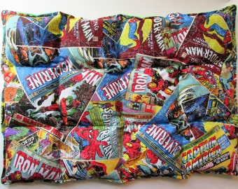 Hot/Cold Herbal Therapy Flax Seed Lumbar Pack Marvel Comicbook Pages