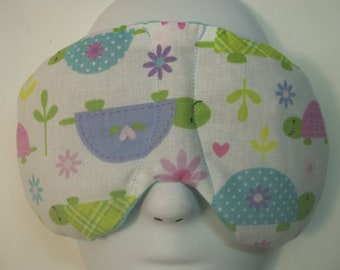 Herbal Hot/Cold Therapy Sleep Mask with adjustable and removable strap Cute Turtles